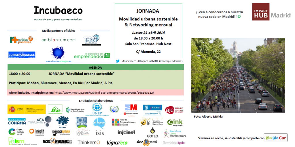 Invitación Jornada Movilidad Sostenible abril 2014